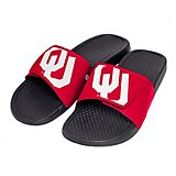f4eba1e0d Forever Collectibles Men's University of Oklahoma Cropped Big Logo Slides