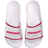 Forever Collectibles Women's University of Arkansas Clear Wordmark Slide Flip-Flops