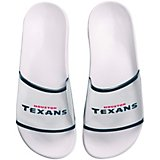 Forever Collectibles Women's Houston Texans Clear Wordmark Slide Flip-Flops
