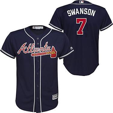quality design a23bf 8eb0d Majestic Boys' Atlanta Braves Dansby Swanson 7 Replica Jersey