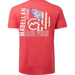 Men's Patriot Red Fish Logo Graphic T-shirt