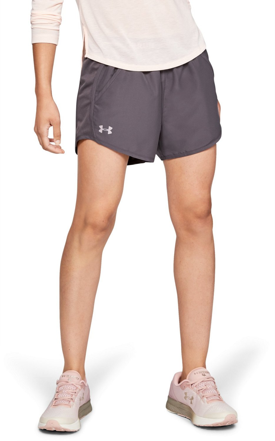 5b3ba10da34d0 Under Armour Women s Fly-By Graphic Waistband Running Shorts