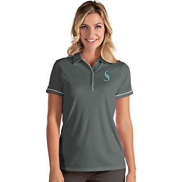 Antigua Women's Seattle Mariners Salute Short Sleeve Polo