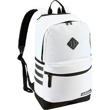 White and Gold PRINT Stripes TM School Backpack Navy