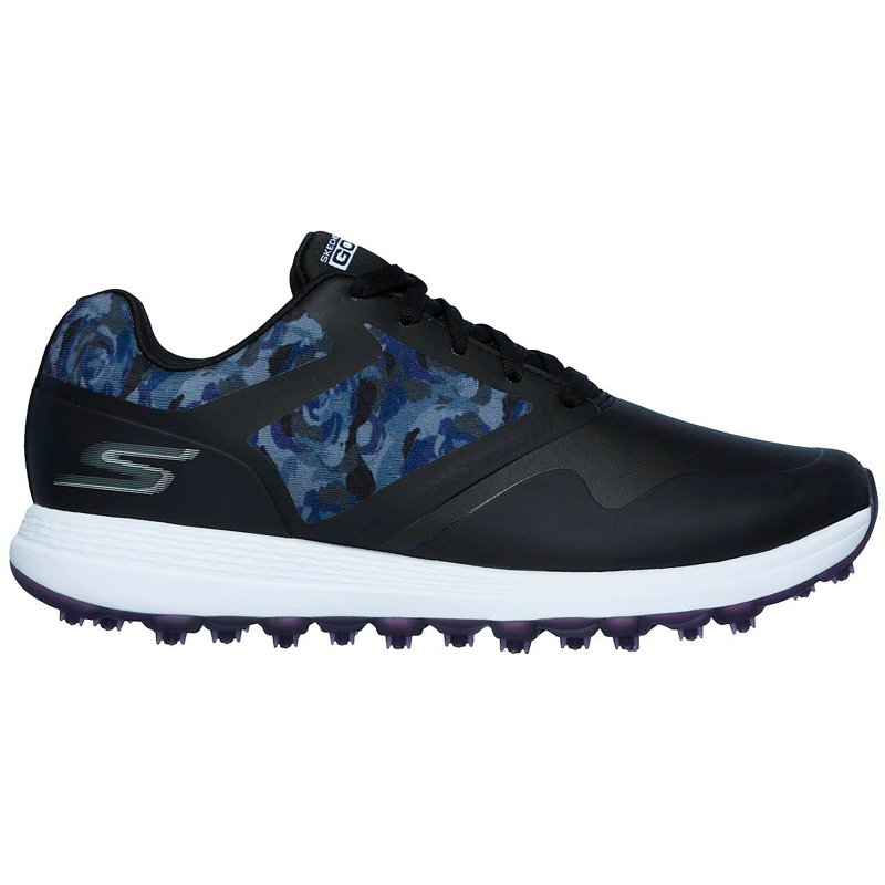 SKECHERS Women's GO Max Draw Golf Shoes Black/Purple, 8.5 - Women's Outdoor at Academy Sports
