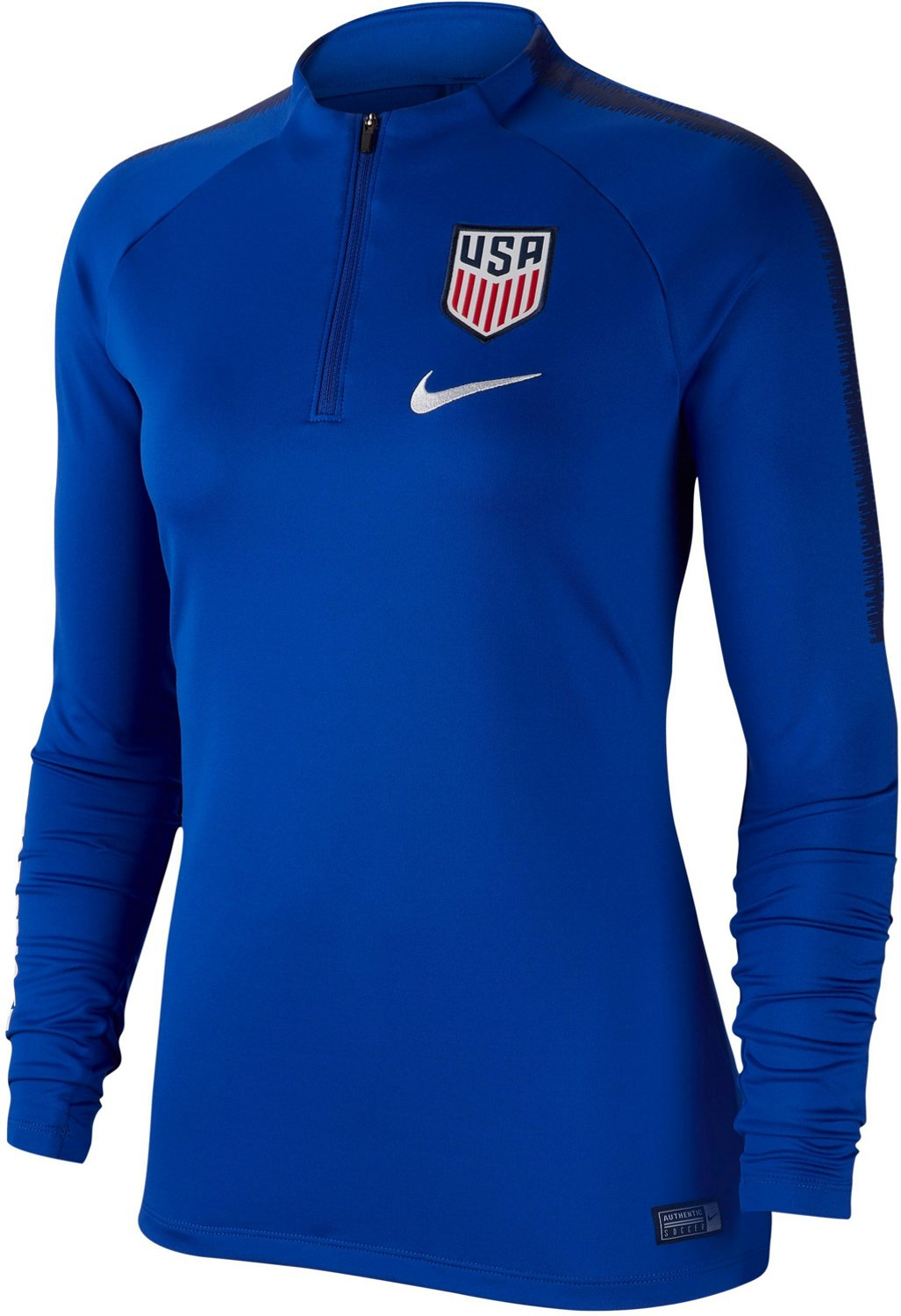 00dcc807 Nike Women's Dri-FIT USA Soccer Squad Drill 1/4 Zip Long Sleeve Top    Academy