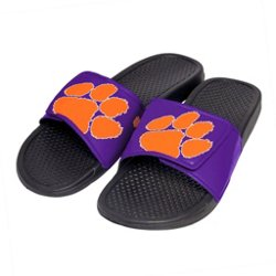 Boys' Clemson University Cropped Big Logo Slide Sandals