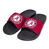 Forever Collectibles Men's University of Alabama Cropped Big Logo Slide Sandals