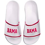 Forever Collectibles Women's University of Alabama Clear Wordmark Slide Sandals