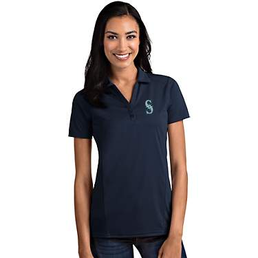 Antigua Women's Seattle Mariners Tribute Short Sleeve Polo Shirt