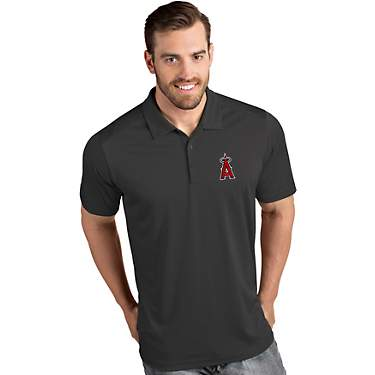 Antigua Men's Los Angeles Angels Tribute Short Sleeve Polo Shirt