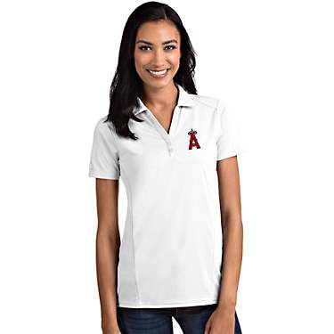 Antigua Women's Los Angeles Angels Tribute Short Sleeve Polo Shirt