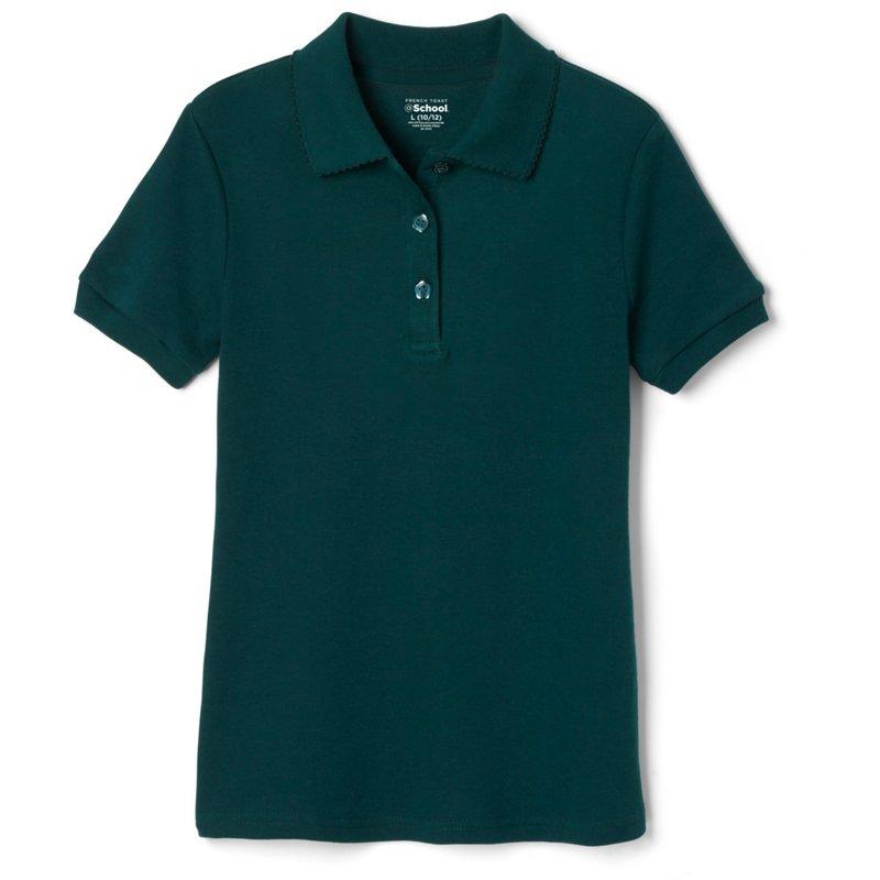French Toast @School Girls' Picot Collar Interlock School Polo Shirt Hunter Green, X-Small - Uniform Accessories at Academy Sports thumbnail