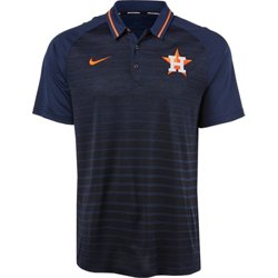 Men's Houston Astros Striped GM Polo Shirt