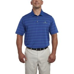 Men's Collection Jersey Stripe Fine-Line Golf Polo Shirt