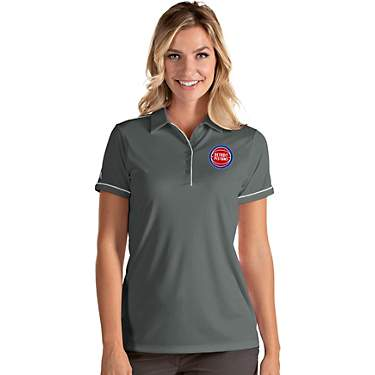 Antigua Women's Detroit Pistons Salute Polo Shirt