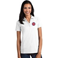 Antigua Women's Detroit Pistons Tribute Polo Shirt