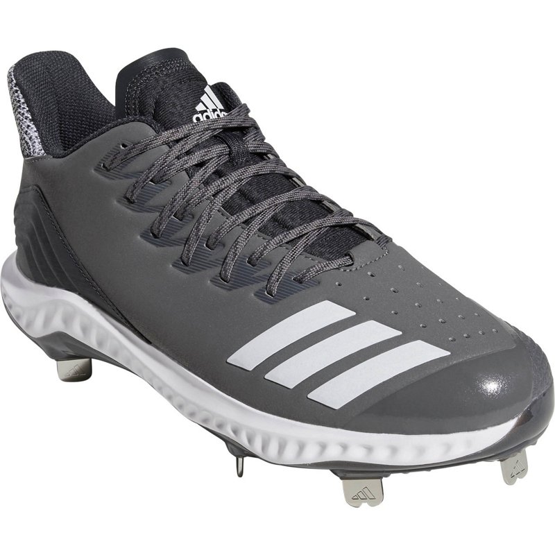 buy online 02483 d9bb5 adidas Men s Icon Bounce Low Metal Baseball Cleats Gray White, 10.5 - Adult  Baseball