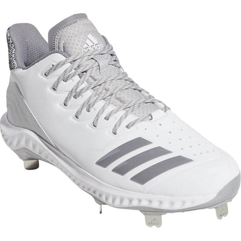 0dbf6c75f28 adidas Men s Icon Bounce Low Metal Baseball Cleats White Gray
