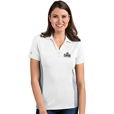 Antigua Women's Los Angeles Clippers Venture Polo Shirt