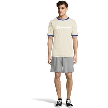 8738ce6b4e107d ... Champion Men's Classic Jersey Ringer Script Logo T-shirt. Men's Shirts.  Hover/Click to enlarge