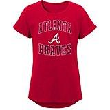 63ebc6e9d Girls  Atlanta Braves Tail Spin Dolman Short Sleeve T-shirt. Quick View.  Majestic