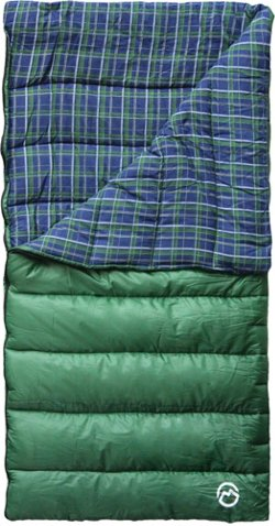 4 lbs Flannel Lined Rectangle Sleeping Bag