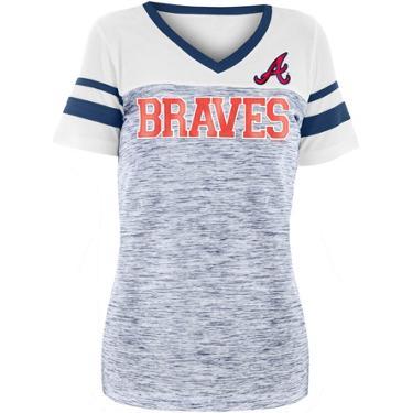 a2fe28f3ff6477 New Era Women's Atlanta Braves Space Jersey V-neck Shirt | Academy