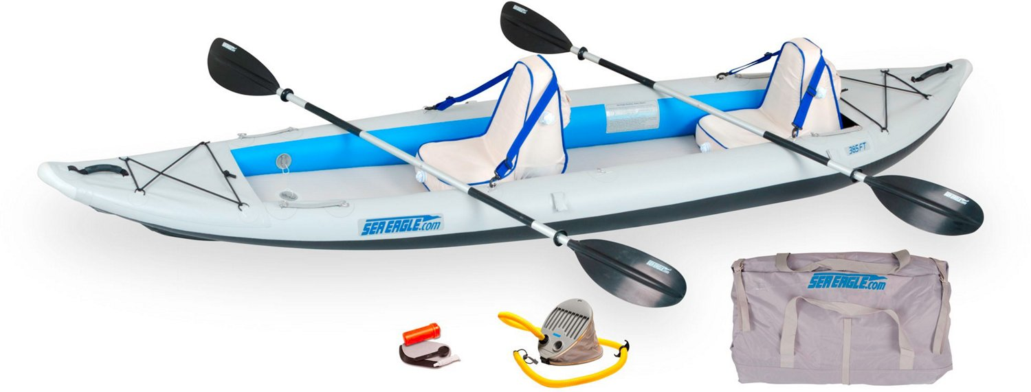 Sea Eagle FastTrack 385 ft Inflatable Kayak Deluxe Package