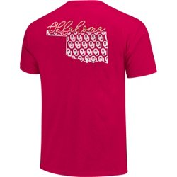 Women's University of Oklahoma Allover State Pattern T-shirt