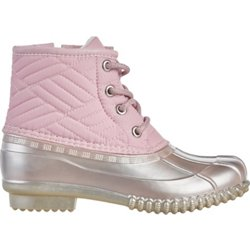 Girls' Quilted Duck Boots