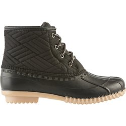 Women's Nylon Quilted Duck Boots