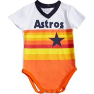 Majestic Infants' Houston Astros Cooperstown Jersey Short Sleeve Creeper