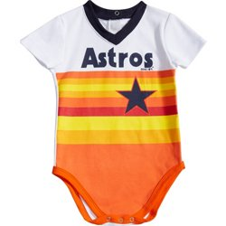 Infants' Houston Astros Cooperstown Jersey Short Sleeve Creeper