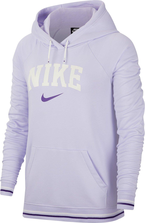 Nike Women's Nike Sportswear Fleece Striped Varsity Pullover Hoodie