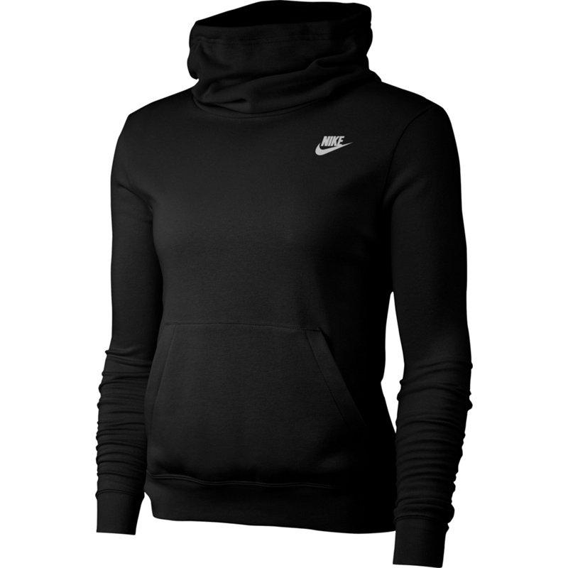 Nike Women's Nike Sportswear Funnel-Neck Fleece Hoodie ...