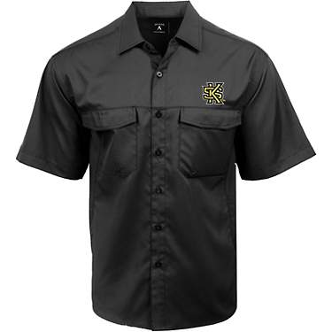 Antigua Men's Kennesaw State University Game Day Woven Fishing Shirt