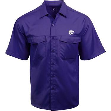 Antigua Men's Kansas State University Game Day Woven Fishing Shirt