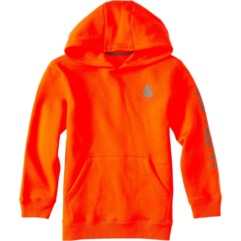 Carhartt Boys' Signature Sweatshirt Blaze Orange, 7 Youth - Men's Longsleeve Work Shirts at Academy Sports thumbnail