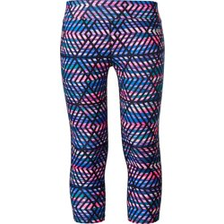 Girls' Printed Compression Capri Pant