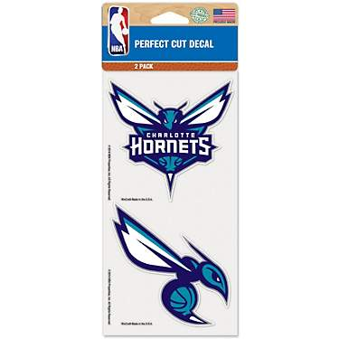 WinCraft Charlotte Hornets Perfect Cut Decal 4 in x 4 in 2-Piece Set