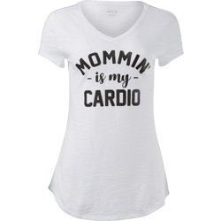 Women's Mommin' Is My Cardio Graphic T-shirt
