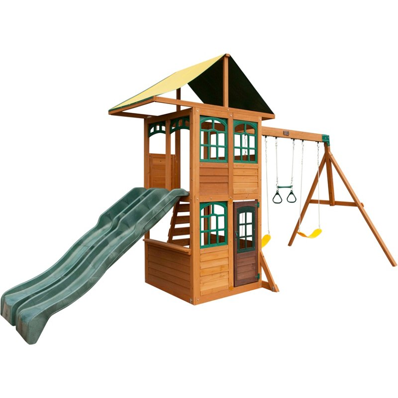 KidKraft Treasure Cove Wooden Play Set Brown - Swing Sets/Bounce Houses at Academy Sports