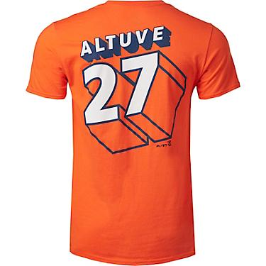 info for d350d 6c158 Majestic Men's Houston Astros Altuve Splash Page T-shirt
