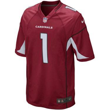 Top Nike Men's Arizona Cardinals Kyler Murray 1 Game Replica Jersey  hot sale