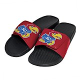 Forever Collectibles Men's University of Kansas Cropped Big Logo Slides