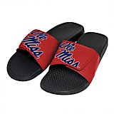 Forever Collectibles Men's University of Mississippi Cropped Big Logo Slides