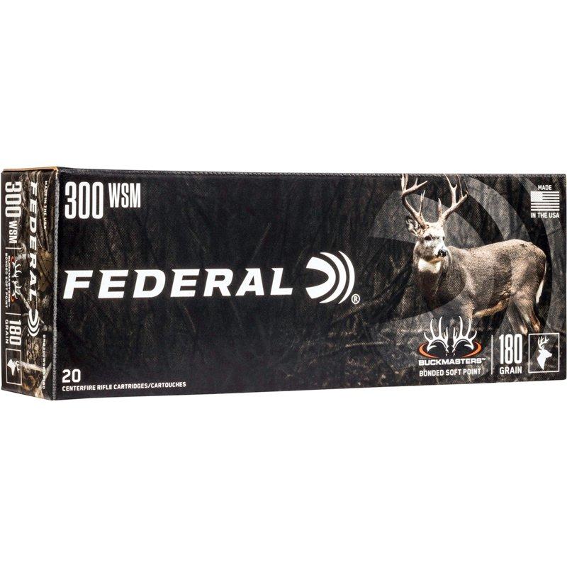 Federal Premium Buckmasters Bonded Soft Point .300 WSM 180-Grain Centerfire Rifle Ammunition – Rifle Shells at Academy Sports