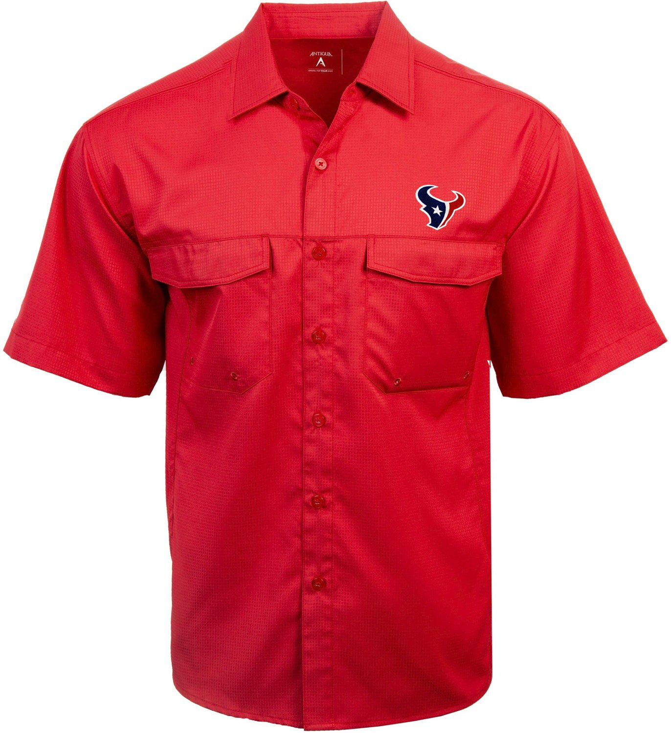b3b29085 Display product reviews for Antigua Men's Houston Texans Game Day Woven  Fishing Shirt