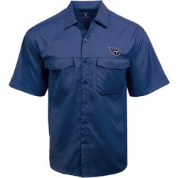 Men's Tennessee Titans Game Day Woven Fishing Shirt